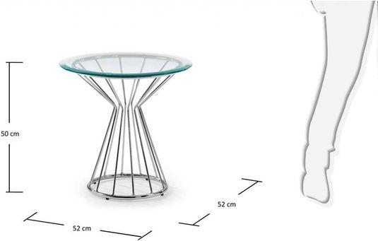 Bijzettafel Glas Chroom.Laforma Bijzettafel Emil Transparant Chroom Glas La Forma